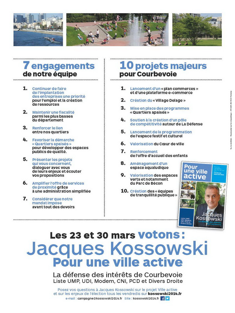 Programme de Jacques Kossowski