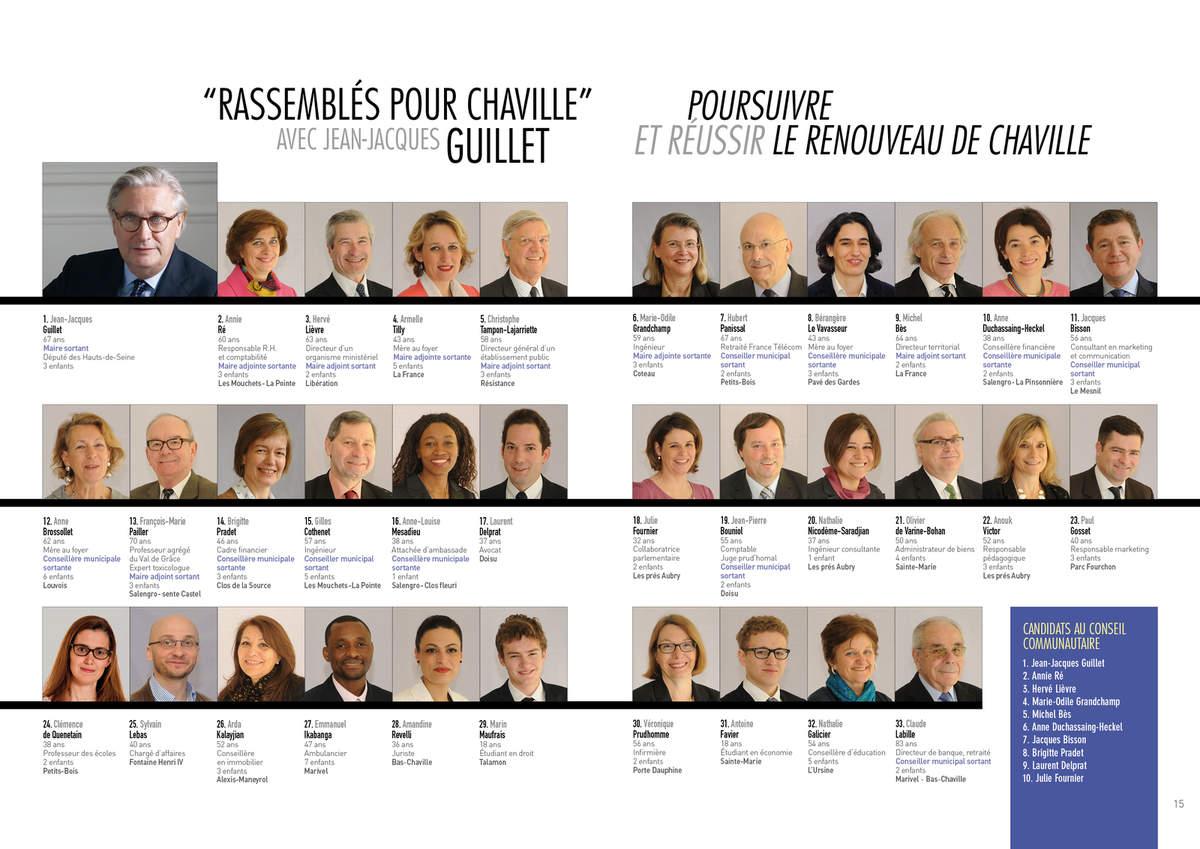 L'équipe 2014 à Chaville