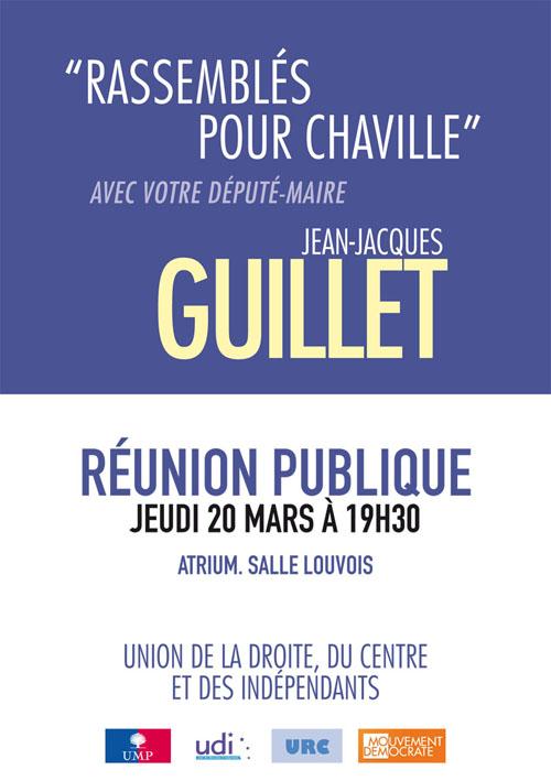 Jean-Jacques GUILLET ce 20 mars en réunion publique