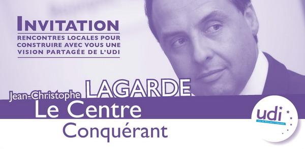 Invitation UDI Le Centre Conquerant avec Jean-Christophe Lagarde le 6 Octobre