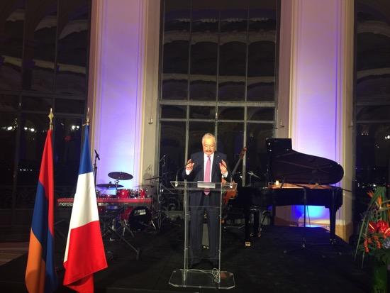 Réception au Petit Palais par l'ambassade d'Arménie en France ce 14 octobre