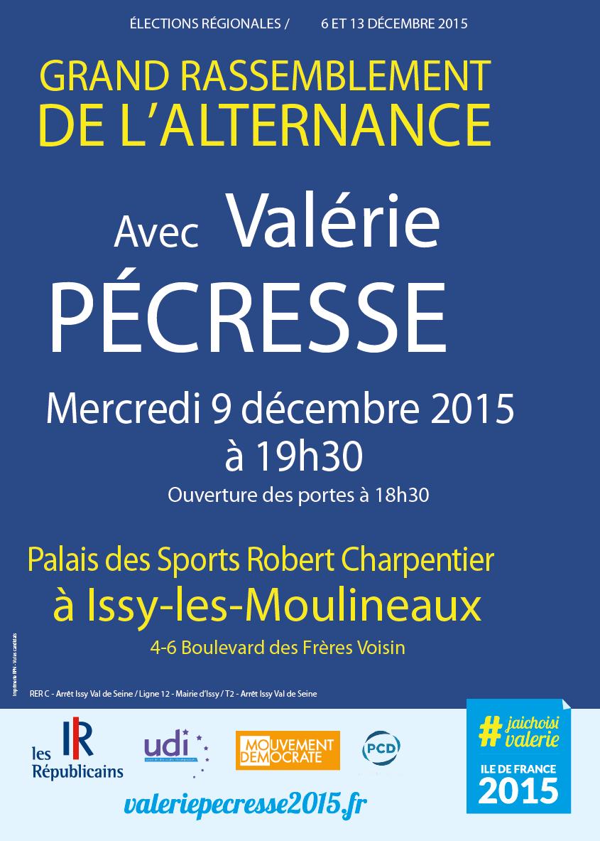 Grand Rassemblement de l'Alternance avec Valérie Pécresse ce 9 décembre à Issy