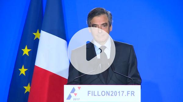 Conférence de presse de Francois Fillon du 1er mars 2017