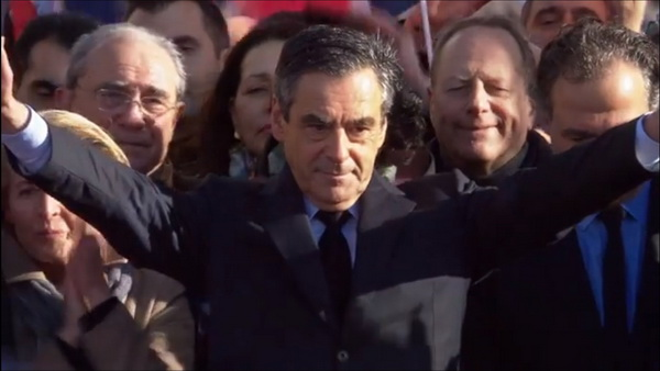 François Fillon au Trocadéro le dimanche 5 mars