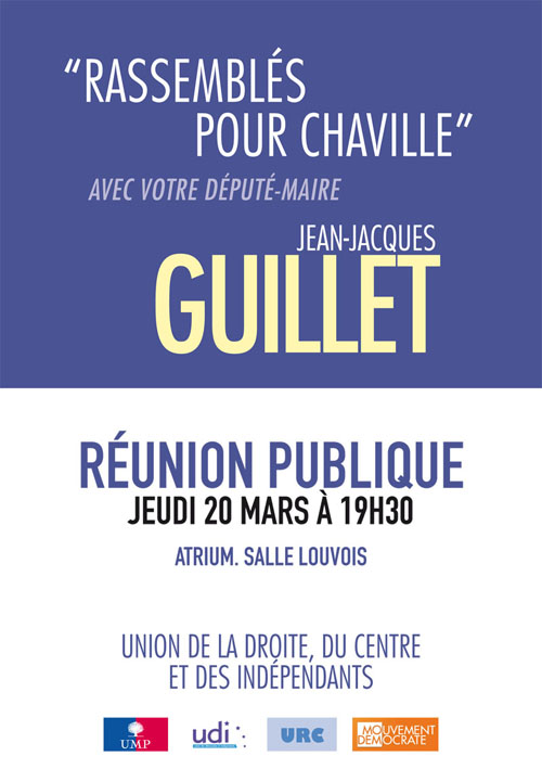 Rassemblés pour Chaville avec Jean-Jacques GUILLET