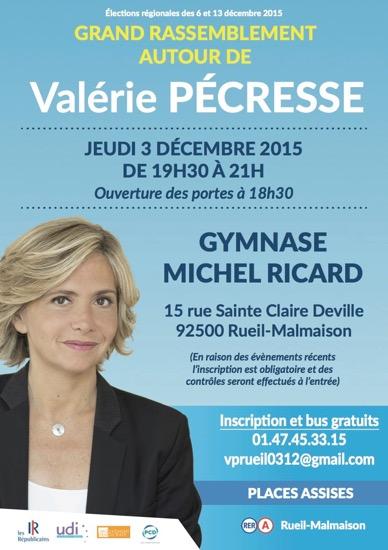 Grand rassemblement avant le 1er tour le 3 décembre à Rueil-Malmaison