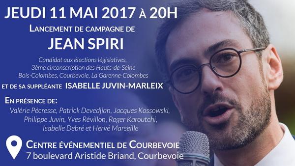 Lancement de la campagne de Jean Spiri ce 11 mai 2017 à Courbevoie pour les élections législatives