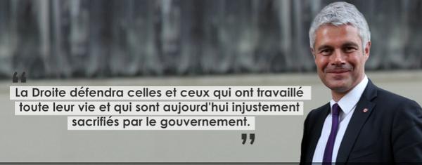 Laurent Wauquiez: La Droite défendra celles et ceux qui ont travaillé toute leur vie...