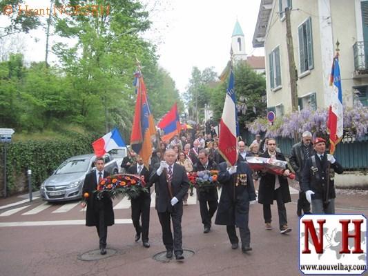 Jean-Jacques Saradjian commémore le génocide des arméniens avec les élus à Chaville